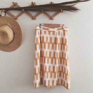 Pendleton Yellow & white skirt